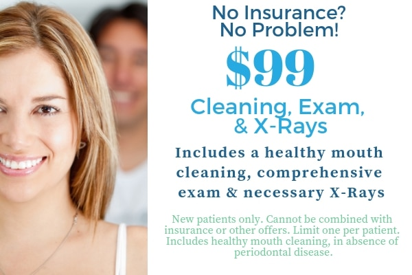 $99 Cleaning Exam and X-Rays